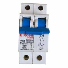 Excell Gold 25A Double Pole C Curve MCB, 10 kA
