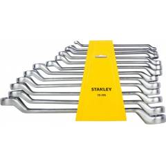Stanley 12 Pieces Shallow Offset BI-Hex Ring Spanner Set, 70-395E