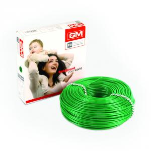 GM 0.75 Sq mm 90m Green FR Modular Wire, 7001