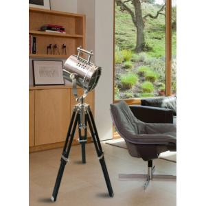 The Brighter Side Chrome Spot Mini Tripod Light