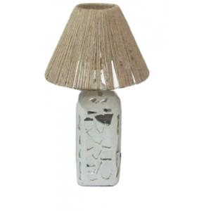 Aadhya Creations RS Mosiac With Rope Shade Table Lamp, AC13BL055D