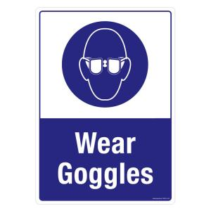 Safety Sign Store Wear Goggles Sign Board, FS655-A3AL-01