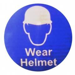 ITE 1x1 ft Reflective Wear Helmet Sign Board
