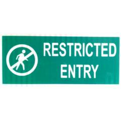 ITE 1x0.5 ft Retro Reflective Restricted Entry Sign Board