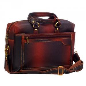 Dolphin Products DP004-Brown Laptop Messenger Bag