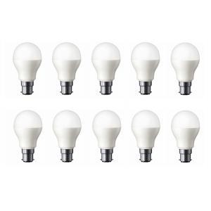 Agwa 9W B-22 White LED Bulb (Pack of 10)