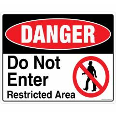 Safety Sign Store Danger: Do Not Enter Sign Board, FS806-A3V-01