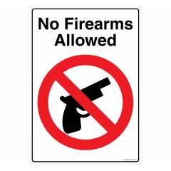 Safety Sign Store No Firearms Allowed Sign Board, FS809-A4PC-01