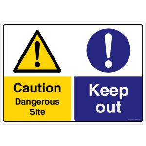 Safety Sign Store Caution: Dangerous Site, Keep Out Sign Board, CW627-A3V-01