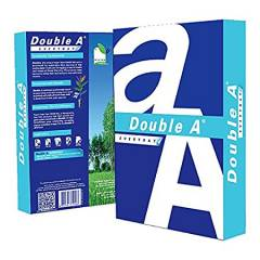 Double A 70 GSM A4 Size White Copier Paper (Pack of 5 Reams)