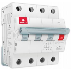 Havells Euro-II 13A TPN C Curve MCB, DHMGCTNF013