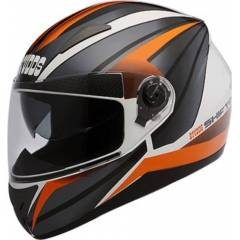 Studds Shifter D2 Motorbike White Orange Full Face Helmet, Size (XL, 600 mm)