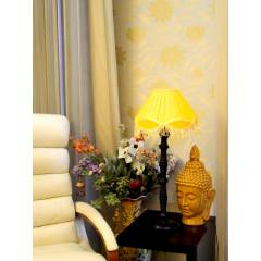 Tucasa Table Lamp with Fringe Shade, LG-104, Weight: 800 g