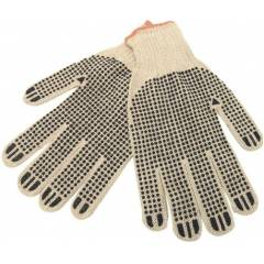 SuperDeals Brown with Black Dotted Hand Gloves, SD118 (Pack of 5)