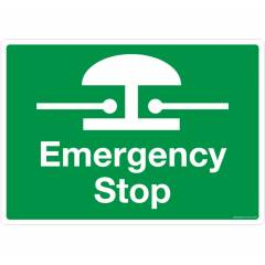 Safety Sign Store Emergency Stop Sign Board, FE313-A4AL-01