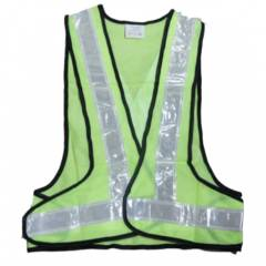 STEC Green Reflective Florescent Jacket, Tape Reflectivity: 2 Inch (Pack of 50)