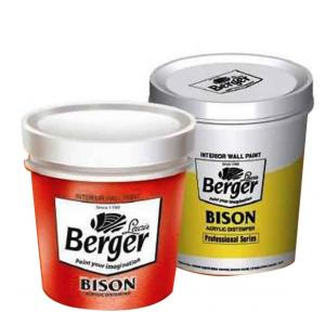 Berger Interior Wall Coatings Bison Acrylic Distemper Paint Group 4   1Kg Cool Pink