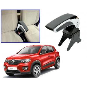 Pearl Black Chrome Armrest Console Box For Renault Kwid