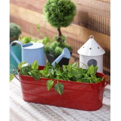 Green Girgit Large Red Oval Planter, GG_OLR