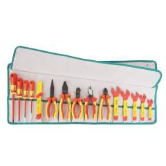 Proskit PK-2813M 15 PCS 1000V Insulated Metric Roll Tool Kit