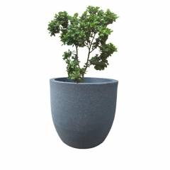 Fox B 15 Inch Round Grey German Polymer Planter, FOX-PCUP-14-G