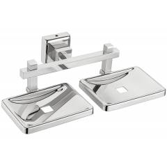 Jovial 411 Calypso Stainless Steel Glossy Finish Double Soap Dish Holder