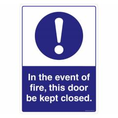 Safety Sign Store Event of Fire Sign Board, FE509-A3PC-01