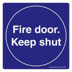 Safety Sign Store Fire Door, Keep Shut Sign Board, FE507-210AL-01, (Pack of 5)