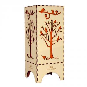 Dizionzrio DTBLTRCR Orange Handicrafts Wooden Look Hand Made Night Table Lamp
