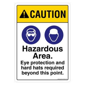 Safety Sign Store Caution: Hazardous Area Sign Board, SS836-A5V-01
