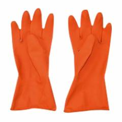 Royal Orange Rubber Hand Gloves, Size: 14 Inch (Pack of 5 Pairs)
