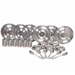Airan 24 Pieces Stainless Steel Silver Dinner Set