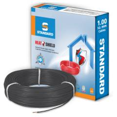 Standard 1 Sq mm 90m Black PVC FR Wire, WSFFDNKA11X0