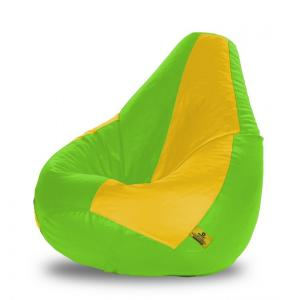 Dolphin DOLBXL-18 F-Green & Yellow Bean Bag Cover without Beans, Size: XL