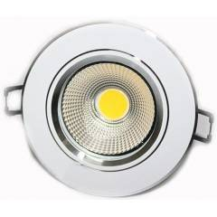 Riflection 6W Warm White Round LED COB Spot Light (Pack of 2)