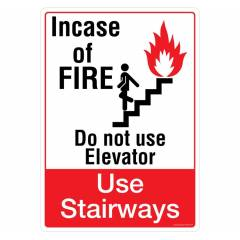 Safety Sign Store In Case of Fire Sign Board, PS108-A4PC-01