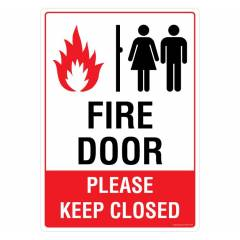 Safety Sign Store Fire Door Sign Board, PS107-A3AL-01