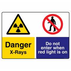 Safety Sign Store Danger: X-Rays Sign Board, CW440-A3AL-01