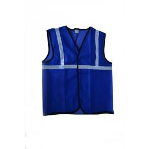 Ufo Blue Safety Jacket with 2 Inch Reflective Tape, Size: XL