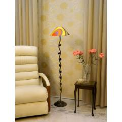 Tucasa Leaf Floor Lamp with Printed Shade, LG-588, Weight: 1100 g