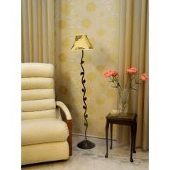 Tucasa Leaf Floor Lamp with Poly Silk Shade, LG-583, Weight: 1100 g