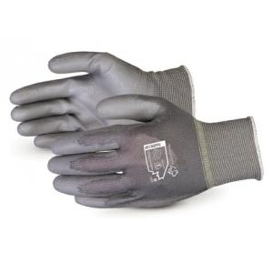 Ufo PU Coated Black Safety Gloves, Size: M