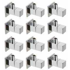 Snowbell Square Brass Chrome Plated Angle Faucet (Pack of 12)