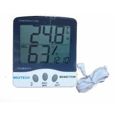 Mextech M288CTHW Big Display Digital Thermo Hygrometer with Indoor/Outdoor Temperature