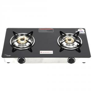 Wonderchef Zest 2 Burner Glass Top Gas Stove