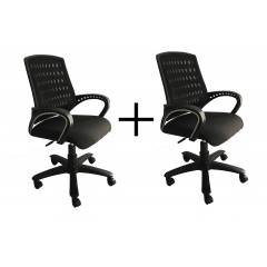 High Living Eezy Black Mesh Office Chair (Pack of 2)