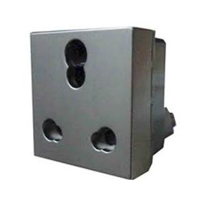 Legrand Arteor 15 & 16 A 2P Euro/US Indian Standard Square Magnesium Socket, 5726 04 (Pack of 10)