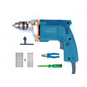 Dee Power 10mm Drill Machine with Plier, Line Tester, 6 HSS Bit & 4 Masonary Bit