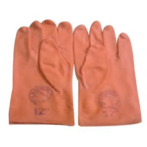 Tee Pee Rubber 18 Inch Orange Safety Gloves (Pack of 10)