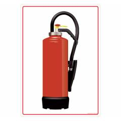 Safety Sign Store Fire Extinguisher-Graphic Sign Board, FS405-A4AL-01